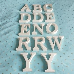 Other - WHITE WASH FREE STANDING WOOD LETTERS
